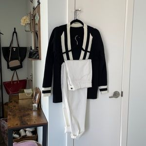 ** 2** Pieces -White jeans and varsity sweater